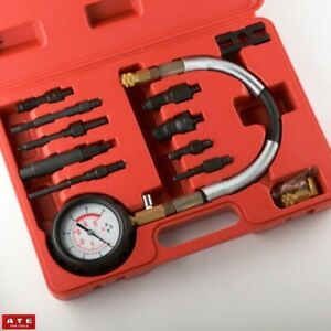 Pro Diesel Gas Engine Compression Tester Gauge Auto Motor Fuel Injection Tool
