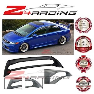 For 06 11 Honda Civic Sedan Mugen Rr Abs Plastic Rear Trunk Wing Spoiler Fd2 Fa2