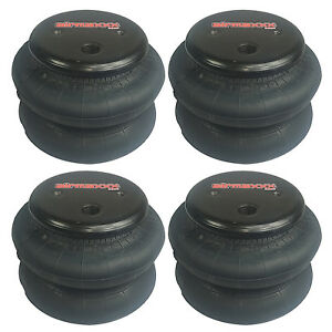 Air Ride Suspension Air Bags Four 2600 1 2 Npt Port Air Spring Kit Replacements