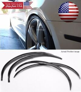 2 Pair Black 1 Flexible Arch Wide Body Fender Well Extension Guard Lip For Ford
