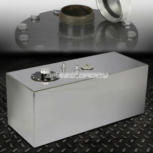 19 Gallon 72l Top Feed Aluminum Racing Drift Fuel Cell Gas Tank Cap Level Sender
