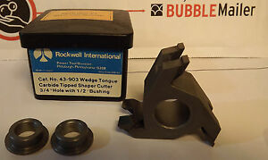 Rockwell 43 903 Wedge Tongue Carbide Tipped Shaper Wood Cutter