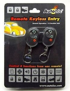Autoloc Kl800 8 Function Keyless Universal Remote Control Door Entry System Kit