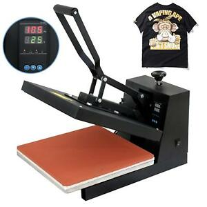 15 x15 Diy Digital Clamshell T shirt Heat Press Machine Sublimation Transfer