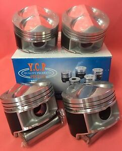 Ycp B16 B18 82mm 040 Jdm Ctr High Comp Pistons Acura Honda Civic Si Type R