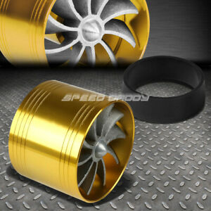 Gold 2 5 Air Intake Turbo Filter Adapter Fuel Gas Saver Propeller Fan