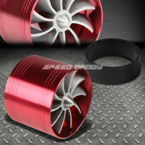 Red 2 5 Air Intake Turbo Filter Adapter Mod Fuel Gas Saver Propeller Fan