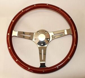 70 77 Galaxie Torino Maverick Thunderbird Wood Steering Wheel 14 Classic
