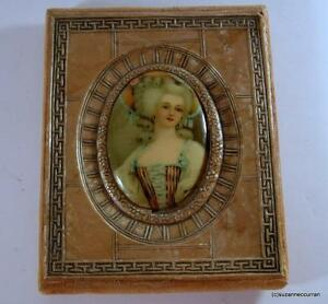 Antique Art Deco Celluloid Picture Frame With Celluloid Cameo Lady Picture