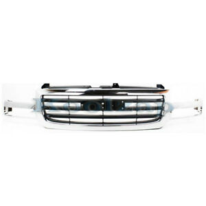 02 07 Sierra Pickup Truck Front Grill Grille Assembly Chrome Gm1200475 19130791