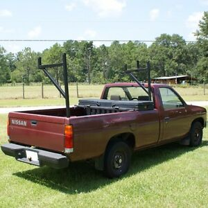 Aluminum 250 Contractor Pickup Truck Ladder Lumber Rack Side Mount Black Pipe