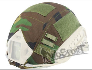 Tactical Military Hunting Helmet Cover for OpsCore Fast Helmet BJPJMH Woodland