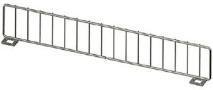 Gondola Shelf Divider Fence Chrome Lozier Madix Usa Made 19 lx 3 h Lot Of 50 New
