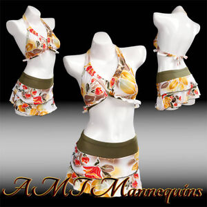 Female Display White Mannequin Torso Dress Form With Hips Life Size Bs 11b