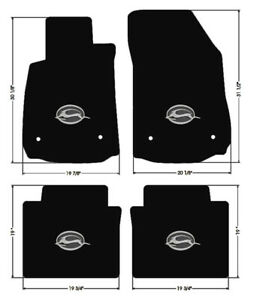 New Black Floor Mats 2014 2020 Chevy Impala Embroidered Logo In Silver On All 4