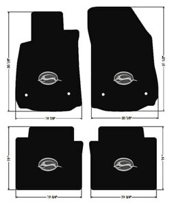 New Black Floor Mats 2014 2018 Chevy Impala Embroidered Logo In Silver On All 4