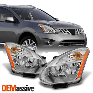 Fits 08 14 Rogue Halogen Headlights Replacement Left Right Pair 2008 2014 Light