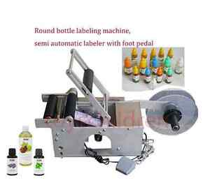 New Semi automatic Round Bottle Labeler Labeling Machine For Round Bottle