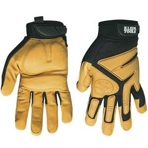 Klein 40221 Tan Journeyman Outdoor work Leather Gloves Large