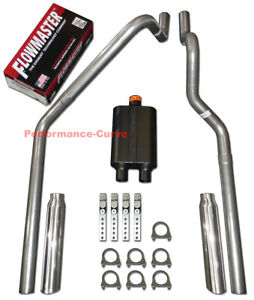 00 03 Dodge Dakota 3 9 4 7 5 9 Mandrel Bent Dual Exhaust W Flowmaster Super 44