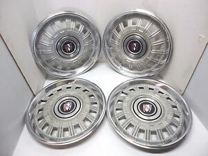 Set Of 4 Buick Hubcaps Hub Caps 1978 1985 3 Shield Center Red White Blue