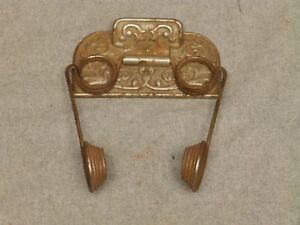 Antique Nickel Cast Iron Toilet Paper Tissue Holder Old Vtg Cigar Rest 559 16