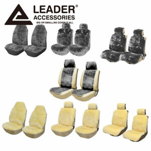 2 Front Seat Covers Australian Sheepskin Universal Fit Most Cars Truck Suv