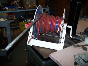 Industrial Hose Reel 50ft And Base With Exair Air Gun 120 Psig Max