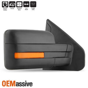 Fits 2007 2014 Ford F 150 Power Heated Puddle Led Signal Passenger Side Mirror