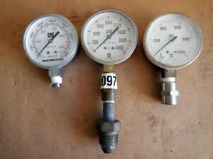 Qty 3 Gauges Matheson Us Gauge 10000 Psi 4000 Psi 7500 Psi Ships Today