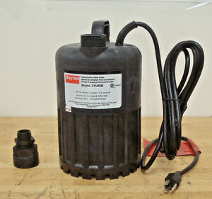 Submersible Utility Pump 1 4 Hp 115v 1 1 4 Npt Discharge
