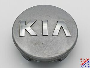 Factory Oem Kia Wheel Center Hub Cap Silver W Raised Chrome Emblem 2 315