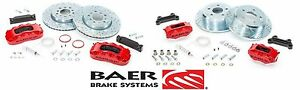 Baer Brake System Front Rear Kit Red Black For 2007 2018 Jeep Wrangler Jk