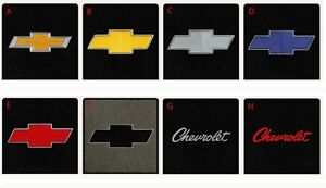 New Black Floor Mats 1967 1970 Chevy Pickup Truck C10 K10 Embroidered Logo