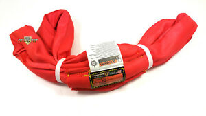Red Endless Polyester Round Sling Tubular 8 Long