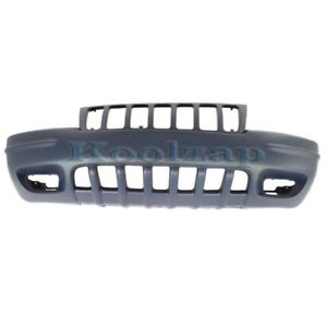 99 00 Gr Cherokee Limited Front Bumper Cover Assembly Primed Ch1000266 5012668aa