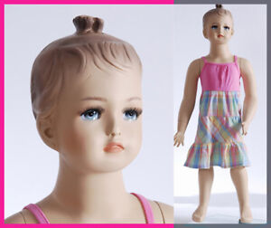 Child Mannequin Hand Made Manikin Abt 1 Year Old Fiberglass Baby Girl Cat