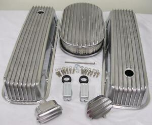 Air Cleaner Aluminum Valve Covers Tall Retro Cal Finned Custom Big Block Chevy