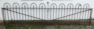 Antique Loop Spear Wrought Iron Driveway Gates Vtg Architectural Garden 670 16