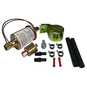 Universal In Line Electric Fuel Pump W Install Kit Low Flow 2 5 Psi 30 Gph