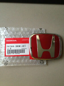 Brand New Rear Honda Jdm Red H Emblem Badge For Civic Si Accord Rsx Dc2 Dc5