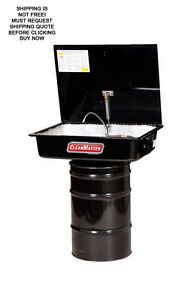 Fountain Industries Cleanmaster 30 Gallon Usa Made Drum Mounted Parts Washer