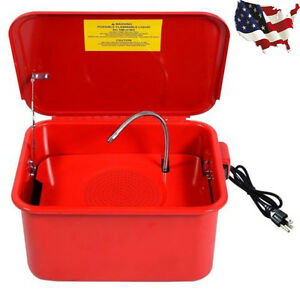 3 5 Gallon Portable Parts Washer Electric Solvent Pump Auto Garage Cleaning New