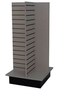 Slatwall Merchandiser Display Store Shelving Fixture Knockdown Usa Made Gray New