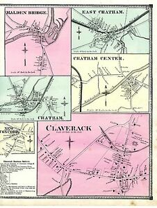 Map Of Claverack Village Chatham Villages From 1873 Atlas Of Columbia County