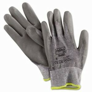 Ansell Hyflex Work Gloves Gray Medium Size 12 Pairs Per Case ans 11627 8