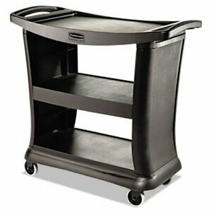 Rubbermaid 9t68 Executive Service Cart Black rcp 9t68 Bla