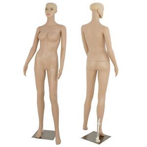68 9 Ft Female Mannequin Plastic Full Body Dress Form Display W Base New