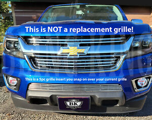 2015 2019 Chevy Colorado Chrome Grille Insert Trim Horizontal Grill Overlay