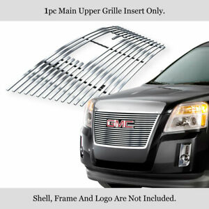 Fits 2010 2014 Gmc Terrain Stainless Steel Billet Grille Insert With Logo Show